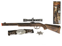 Puška kovbojská klapací 50 cm s doplňky