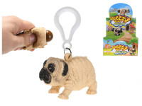 Přívěsek na klíče bulldog strečový 5,5 cm