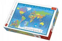 Puzzle Politická mapa světa 2000 dílků 96x68cm