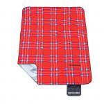 Spokey PICNIC TARTAN Pikniková deka s popruhem, 150x180 cm červené káro