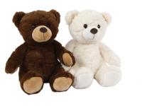 Medvěd plyšový 25 cm sedící - mix barev
