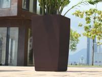 Samozavlažovací květináč GreenSun ICES 12x12 cm, výška 23 cm, hnědý