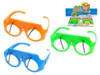 Brýle 16,5 cm se stěrači na klíček - mix barev