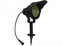 svítidlo LED 10W,850lm, MR30, IP67,3000K, teplé, Al ČER+stínítko, zapichovací