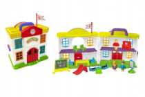 Domeček škola s doplňky plast