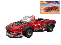 EDUKIE stavebnice auto závodní červené na zpětný chod 132 ks + 1 figurka