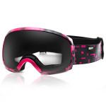 Spokey RADIUM lyžařské brýle černo-růžové