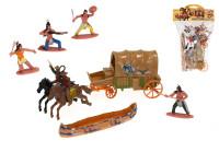Sada figurek 6 ks 6 cm indiáni a kovbojové s doplňky - mix variant či barev