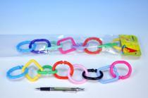 Řetěz/zábrana 8 tvarů plast v sáčku 0m+