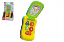 Telefon Mobil plast 14cm na baterie se zvukem se světlem na kartě 18m+