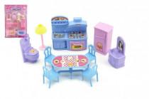 Nábytek pro panenky plast - mix barev