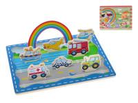 Hrací set dřevěný 3D 30x22,5 cm - mix variant či barev