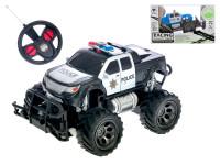 R/C auto terénní policie 18 cm 1:24 27 MHz plná funkce na baterie - mix barev