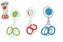 Chrastítko koule s tvary plast průměr 5cm v sáčku 0m+ - mix variant či barev