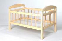 Postýlka dřevěná pro panenky velká 59 cm
