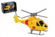 Vrtulník/helikoptéra záchranářský plast 20cm na baterie se světlem se zvukem