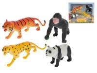 Zvířátka safari 8-15 cm 4 ks