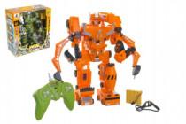 Robot/transformer RC plast 33cm na baterie/USB se zvukem a světlem - mix barev