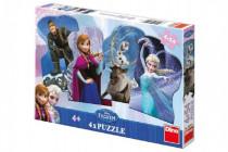 Puzzle 4x54 dílků Frozen a přátelé