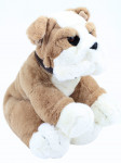 Plyšový pejsek Bulldog sedící 45 cm