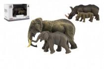 Zvířátka safari ZOO 14cm sada plast 2ks 2 druhy