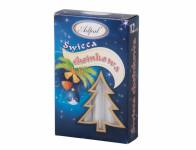 Svíčka vánoční stromečková metalická d1,2x12cm 12ks