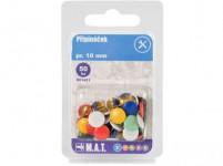 připínáček pr.10mm (50ks) - mix barev
