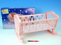 Kolébka pro panenky bez soupravy plast- mix barev