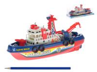 Loď/člun plast 24cm na baterie se zvukem se světlem