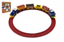Vlak na klíček + koleje a vagónky plast