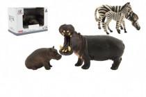 Zvířátka safari ZOO 11cm sada plast 2ks 2 druhy