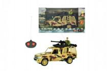 Auto RC vojenské na dálkové ovládání 27MHz plast 20cm na baterie se světlem - mix variant či barev
