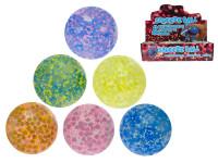 Míček strečový s kuličkami 7 cm - mix barev