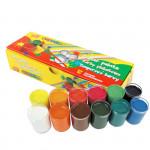 Plakátové barvy v kelímku 12 barev