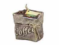 Svíčka COFFEE BAG zdobená 8x11x11cm
