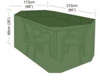 plachta krycí na set 4 židlí+obdél. stůl 215x173x89cm, PE 90g/m2