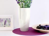 Samozavlažovací květináč GreenSun LIQUIDS průměr 35 cm, výška 61 cm, bílý