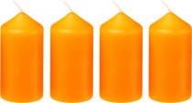 Svíčka adventní 40x75 mm - oranžová - 4 ks