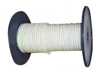 šňůra PA bez duše 4mm BÍ pletená (200m)