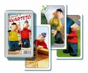 Kvarteto Pat a Mat I společenská hra - karty v plastové krabičce
