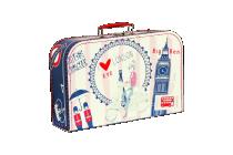 Kufřík Londýn červeno/modrý 35 cm