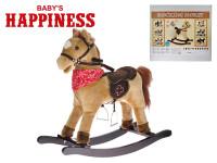Koník houpací 69x75x30 cm na baterie se zvukem otevírající pusu Baby´s Happiness