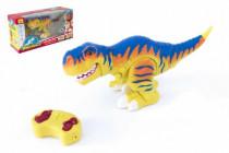 Dinosaurus chodící RC tyranosaurus plast 38cm na baterie se zvukem se světlem 2,4GHz