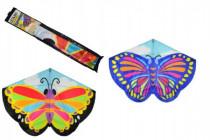 Drak létající motýl plast 138x110cm - mix barev