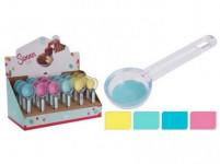 dávkovač na zmrzlinu 19cm silikon/ plastový - mix barev