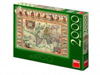 Puzzle 2000 Historická mapa světa