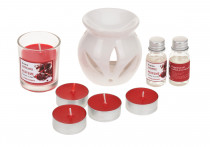 aromalampa, svíčky, vonný olej sada 9díl. - mix variant či barev
