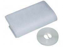 Síť okenní 150 x 90 cm bílá samolepící