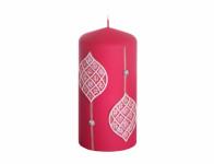 Svíčka OZDOBY/MAROCCO/VÁLEC vánoční d6x13cm