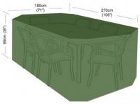 plachta krycí na set 6 židlí+obdél. stůl 270x180x89cm, PE 90g/m2